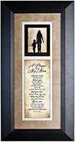 Dexsa A Prayer for My Mom Wood Wall Art Frame Plaque | 8 inches x 16 inches | Hanger for Hanging | Dear God I Gratefully Thank You for Giving me My Mom James Lawrence