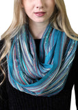 (17 COLORS) Women's Shimmer Sparkle Infinity Scarf, Festival Bliss Lightweight Fashion Shawl