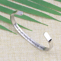 Joycuff Inspirational Bracelets for Women Hidden Message Mantra Cuff Bangle Stainless Steel Friend Encouragement Gift