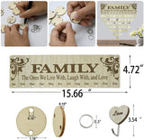 YuQi [Gift for Family] Family Birthday Wall Hanging Calendar,Wooden Birthday Reminder Plaque Sign Family DIY Calendar Hanging Board Personalized Gifts for Mom