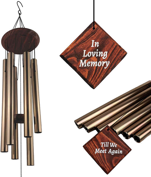 Magara Memories Memorial Wind Chimes for Loss of Loved One | Wind Chimes for Funeral | Sympathy, Condolence, Bereavement Gift