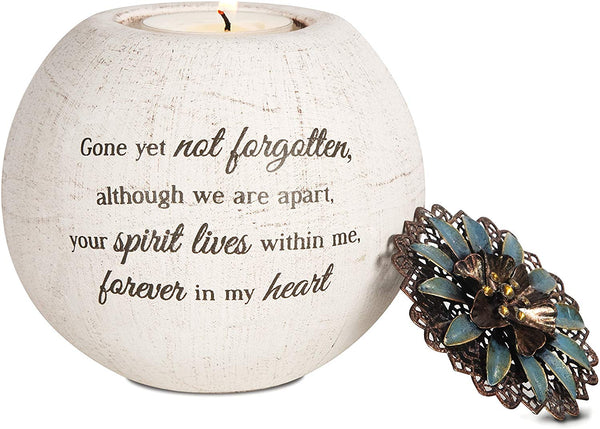 Pavilion Gift Company 19093 Forever in My Heart Terra Cotta Candle Holder, 4-Inch