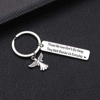 Sympathy Keychain Those We Love Don't Go Away They Walk Beside Us Everyday Loss Of Loved One keyhcian