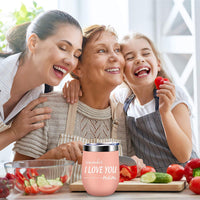 Valentines Day Gifts for Mom, Wife - Remember I Love You Mom Wine Tumbler - Mom Birthday Gifts, Mom Gifts from Daughter, Son, New Mom Gifts, Wife Gifts, Pregnant Mom Gifts, Mom to be - Alexanta