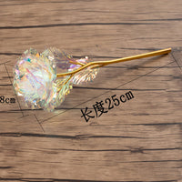 1pc Mothers Day Gift Foil Plated Rose Gold Rose Flower For Valentine's Day Gift Lover's Rose Artificial Wedding Party Decoration