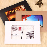10pcs Photo Frame For Picture Kraft Paper Photo Frame Picture Holder Gift Box Wedding Decor Party Packaging Bag