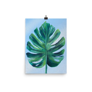 Monserrat Leaf Poster