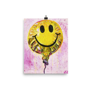 Smiley Balloon Poster