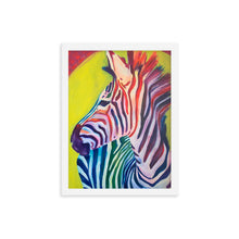 Load image into Gallery viewer, Zebra Framed poster