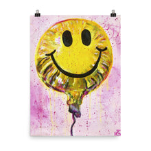 Load image into Gallery viewer, Smiley Balloon Poster