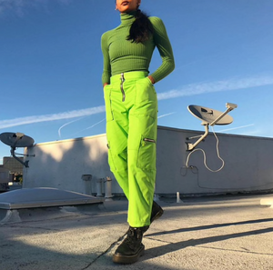 Fluorescent Green Cargo Pants - shop.evol