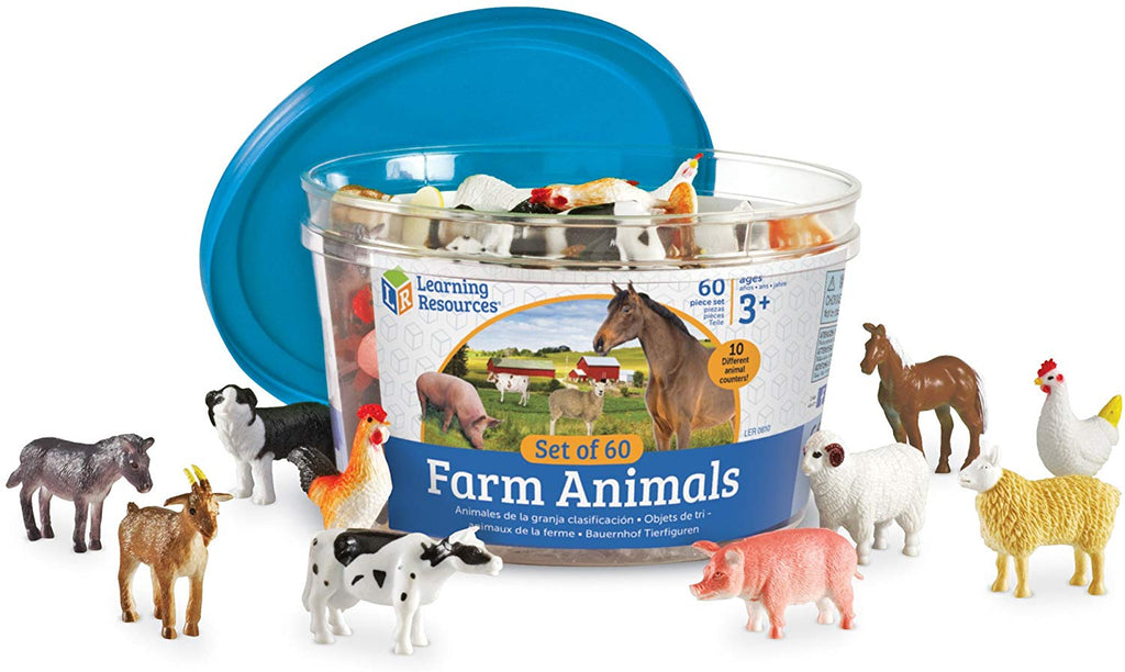 FARM ANIMAL COUNTERS (60pc)