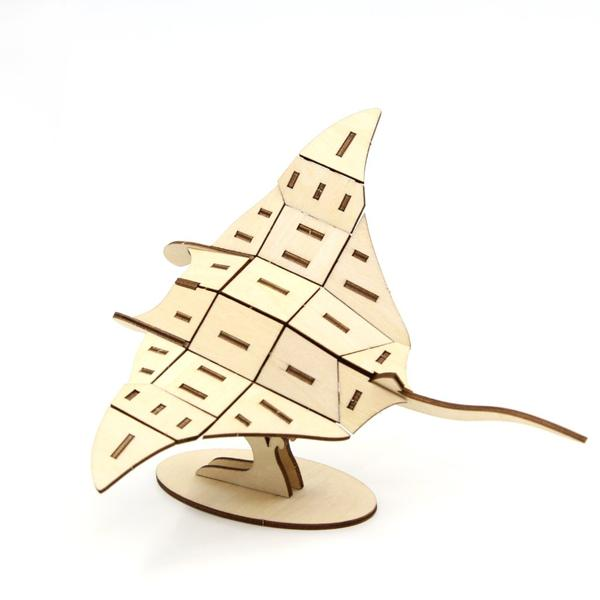 3D WOODEN PUZZLE - MANTA RAY