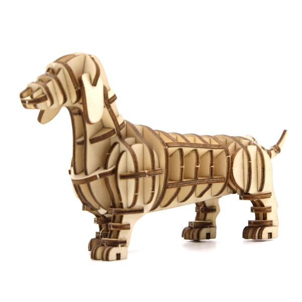 3D PAPER PUZZLE: DACHSHUND DOG