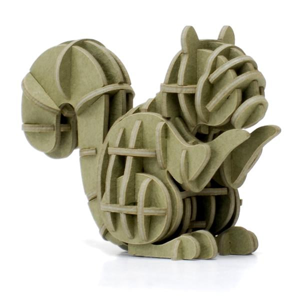 3D PAPER PUZZLE: SQUIRREL