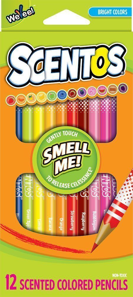 SCENTOS: SCENTED COLOURING PENCILS (12pc)