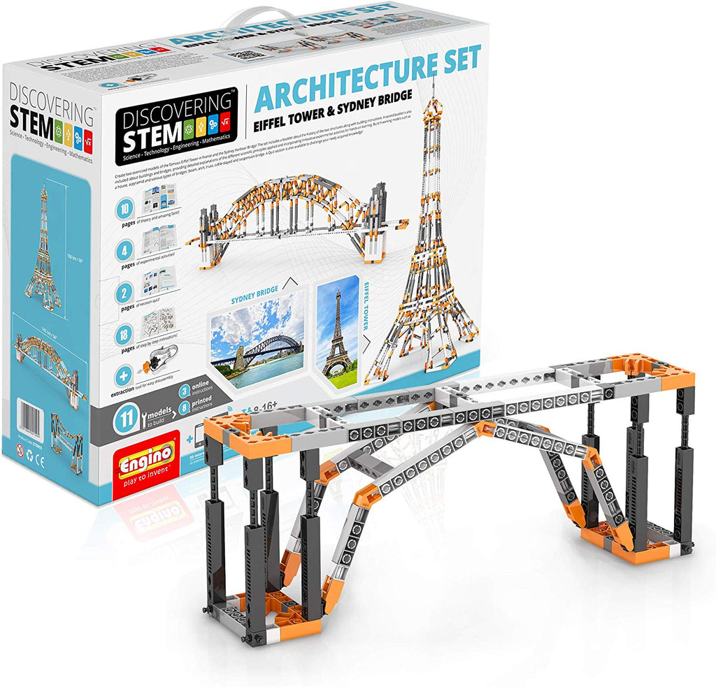 STEM ARCHITECTURE SET (EIFFEL TOWER & SYDNEY BRIDGE)