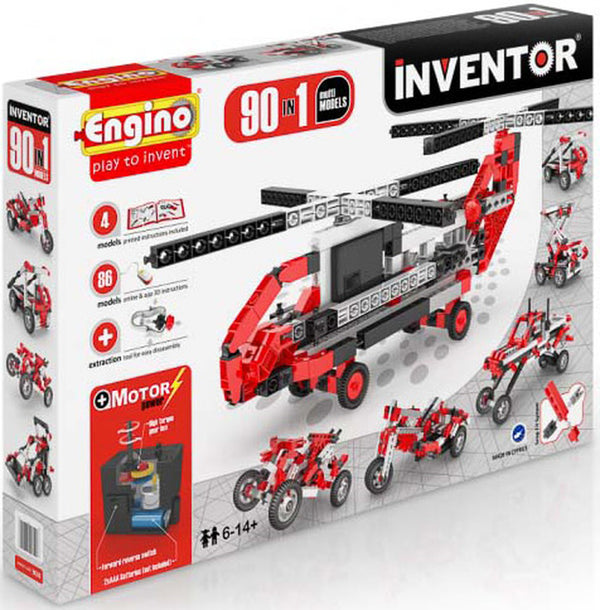 MOTORISED INVENTOR 90-IN-1 BUILDING SET