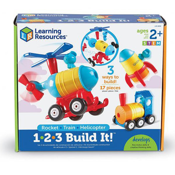 1-2-3 BUILD IT! (ROCKET - TRAIN - HELICOPTER)