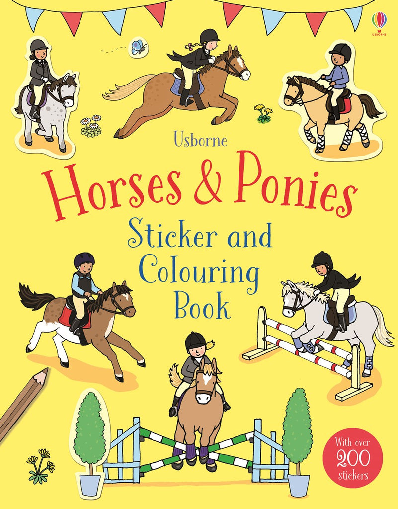 STICKER & COLOURING BOOK: HORSES & PONIES