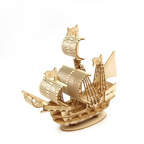 3D WOODEN PUZZLE - SAILING SHIP