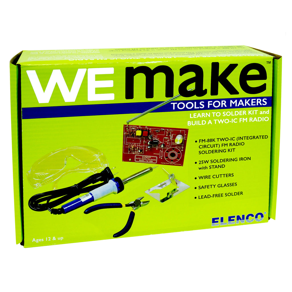 WE MAKE: FM RADIO SOLDERING KIT WITH TOOLS