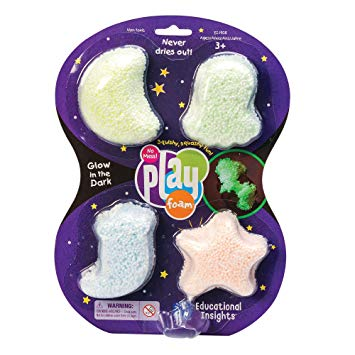 PLAYFOAM - GLOW IN THE DARK (4 PACK)