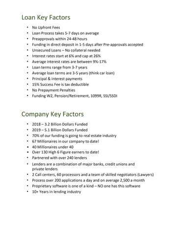 Qualifications and Company Background