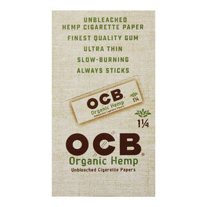 Unbleached Organic Hemp Rolling Papers from OCB