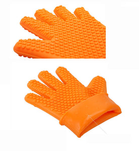 Silicone Kitchen Cooking Silicone BBQ /Cooking Gloves Plus Silicone Brush Baking Tool