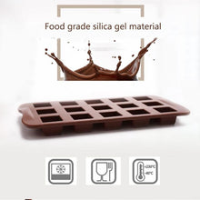 Load image into Gallery viewer, 15 Cavities Silicone Chocolate Molds Square Grid Shape Candy Jelly Ice Molds Cookie Cake Mould Baking Tools