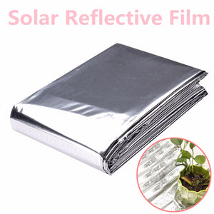 82x51 Inch Silver Plant Reflective Film Grow Light Accessories Greenhouse Reflectance Coating Plant Covers