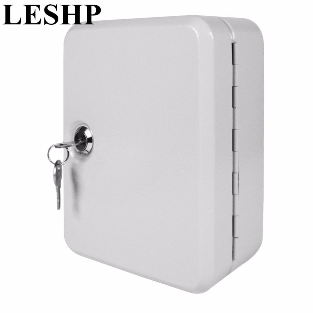 LESHP New Cost-effective Best Price Lockable Security Metal Key Cabinet Safe Storage Box with 20 Tags Fobs Wall Mounted