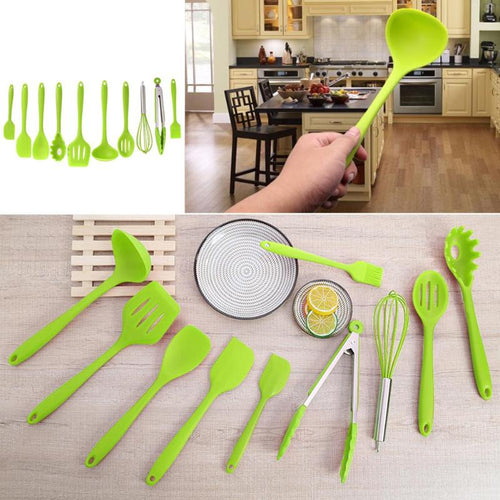 10Pcs/Set Silicone Kitchen Cooking Utensils Set