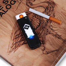 Load image into Gallery viewer, 1 PC Windproof Nice Gift Smokeless Flameless USB Windproof Charging Lighter Electronic Cigarette Lighters Smoking Accessories