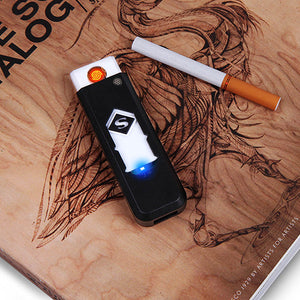 1 PC Windproof Nice Gift Smokeless Flameless USB Windproof Charging Lighter Electronic Cigarette Lighters Smoking Accessories
