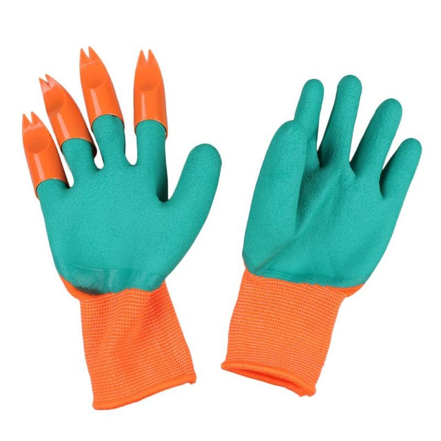 Gardening Garden Gloves With Fingertips Claws Genie Glove Raking Digging Planting Latex Work Tools Household Greenhouse Products