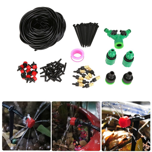 5/15/25m Water Hose DIY Micro Drip Irrigation System Automatic Garden Sprinkler Watering Kit for Lawn Greenhouse Plants