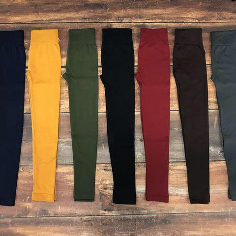 Fleece Lined Leggings (All Color Choices)