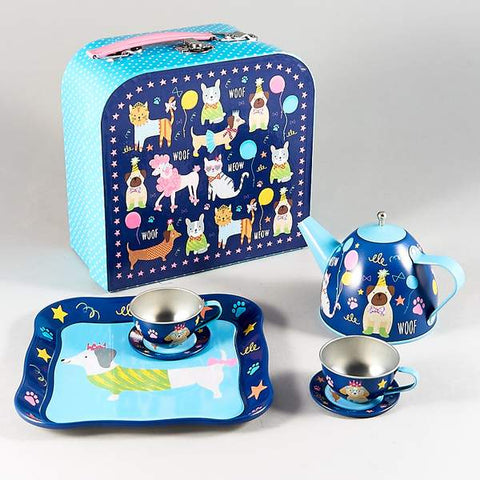 """Tin dog teaset"" Floss & Rock"