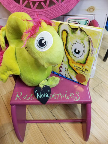 """Nola"" the Worry Woo Plush Monster Of Loneliness Book sold separate"