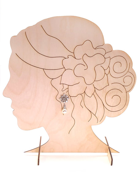 Earring Display Stand, Bride - INSTANT Digital Download