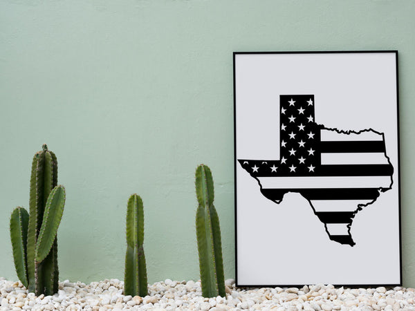 Texas America SVG, State of Texas with American Flag Clip Art - INSTANT Digital Download