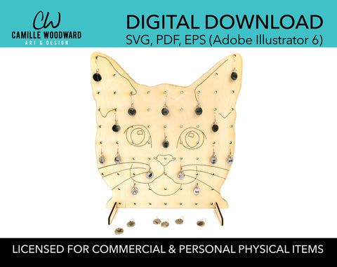 Product Display Stand, Cat Face - INSTANT Digital Download