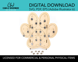 Product Display Stand, Paw Print - INSTANT Digital Download