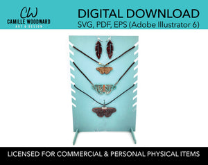 Necklace Display Stand, Rectangle with Notches Bust - INSTANT Digital Download