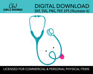Vet Tech Puppy Stethoscope SVG, Veterinarian - Digital Download