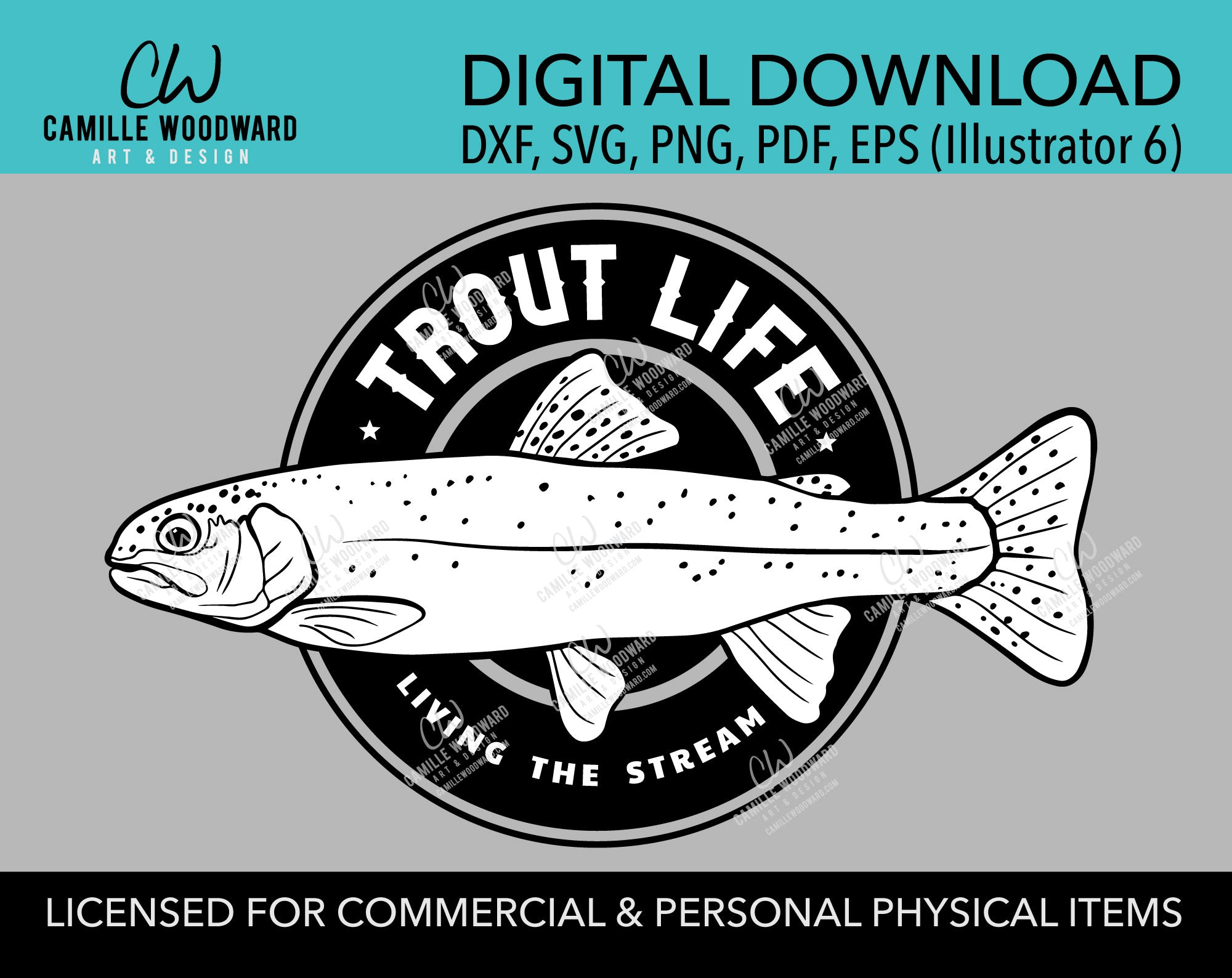 Trout Life SVG, Funny Fishing SVG, Wishing I Was Fishing, Father's Day, Dad, Mom, Retirement Gone Fishing - Digital Download Iron On
