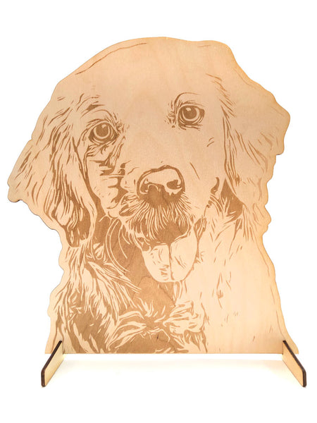 Pet Display Stand, Golden Retriever - INSTANT Digital Download