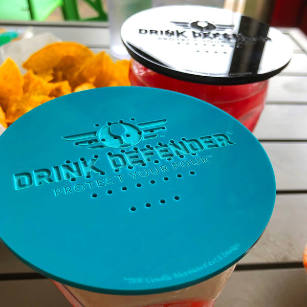 Turquoise DRINK DEFENDER (TM) - Wine, Beer, Cocktail, and Beverage Cover